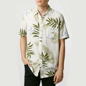 custom quality shirt top allover printed men's hawaii shirt