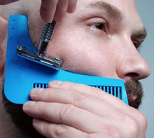 New Product Beard Shaping Tool / Beard Styling and Shaping Template Comb Tool / Hot Sale Beard Comb
