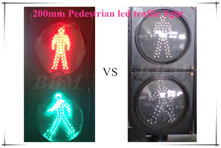 Red Green man pedestrian led traffic signals lamp 200mm