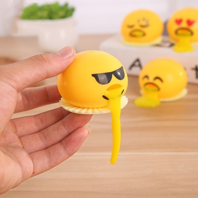 1 Piece Novelty Lazy Egg Toy Squeeze Antistress Relief Toy Crazy Slime Toy