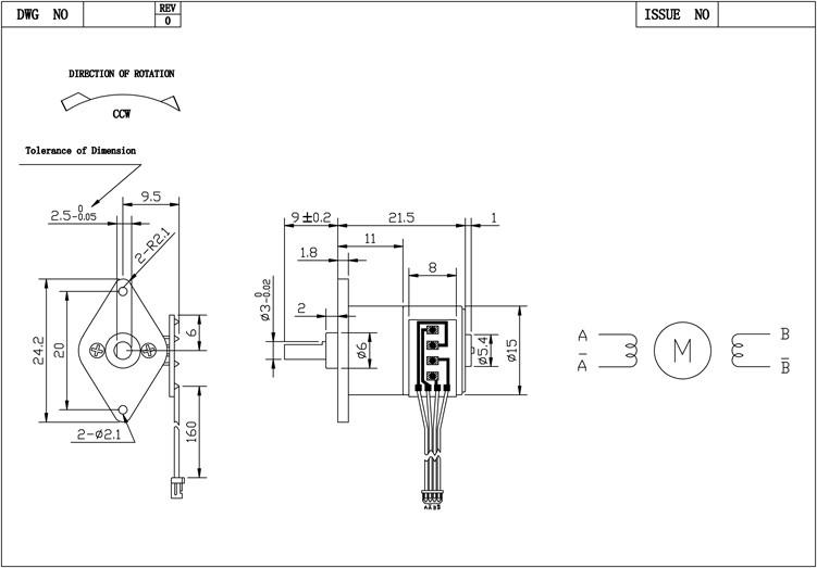 3 V Dc Geared Stappenmotor Met Verschillende Overbrengingsverhouding Voor Kleine Apparaat 15by Stappenmotor