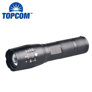 Tactical Zoom 10w XML T6 LED Manual LED Torch Portable Emergency Zoomable LED Flashlight Torch