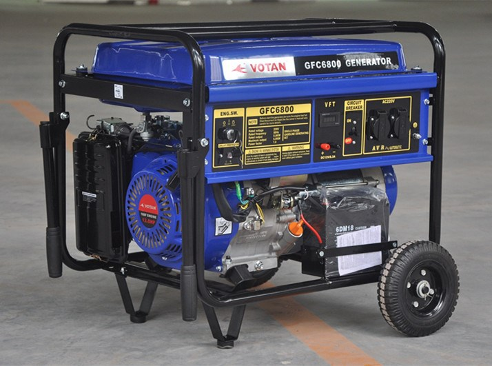 Gasoline generator 5 KW, 100% copper wire used, open frame type