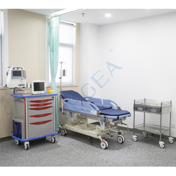 Simple ambulance room patient transport therapy used medical hydraulic hospital stretcher solution for sale