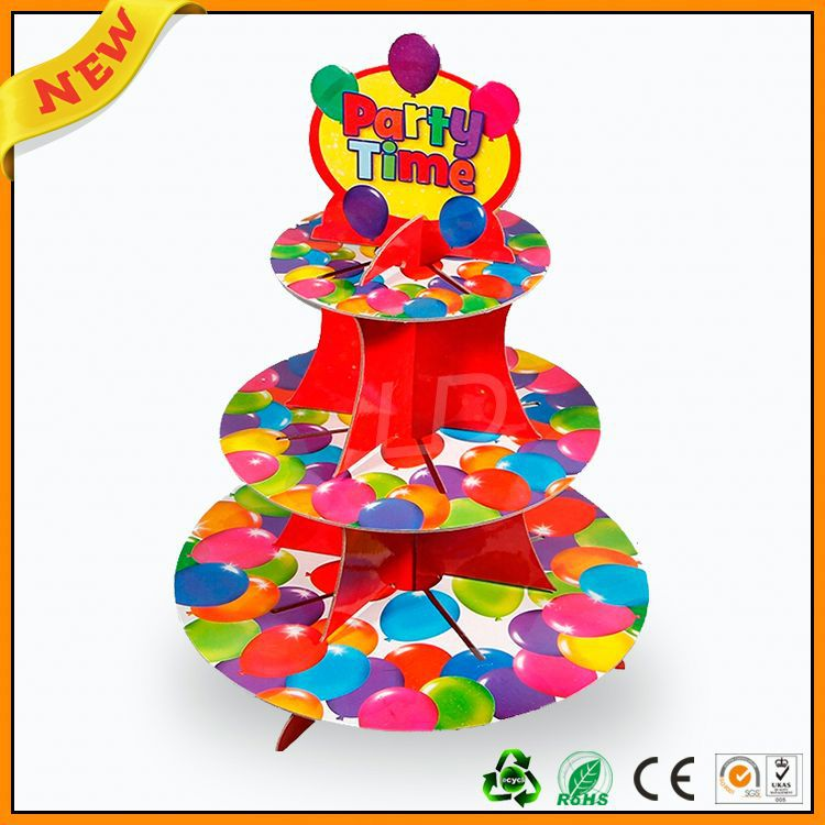 3 tier paper cupcake stand easy assemble ,3 tier paper cupcake stand ,3 tier disposable cupcake stands