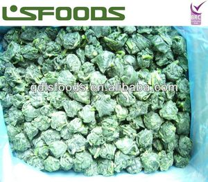 New crop IQF frozen spinach