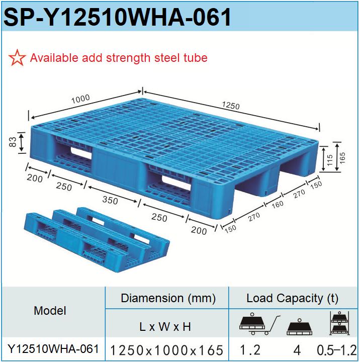 ग्रिड शैली जाल निकाल शीर्ष एकल पक्ष का सामना करना पड़ा यूरो पीपी एचडीपीई मानक प्लास्टिक की चटाई आकार 1250*1000*165mm के लिए रैक प्रणाली का उपयोग