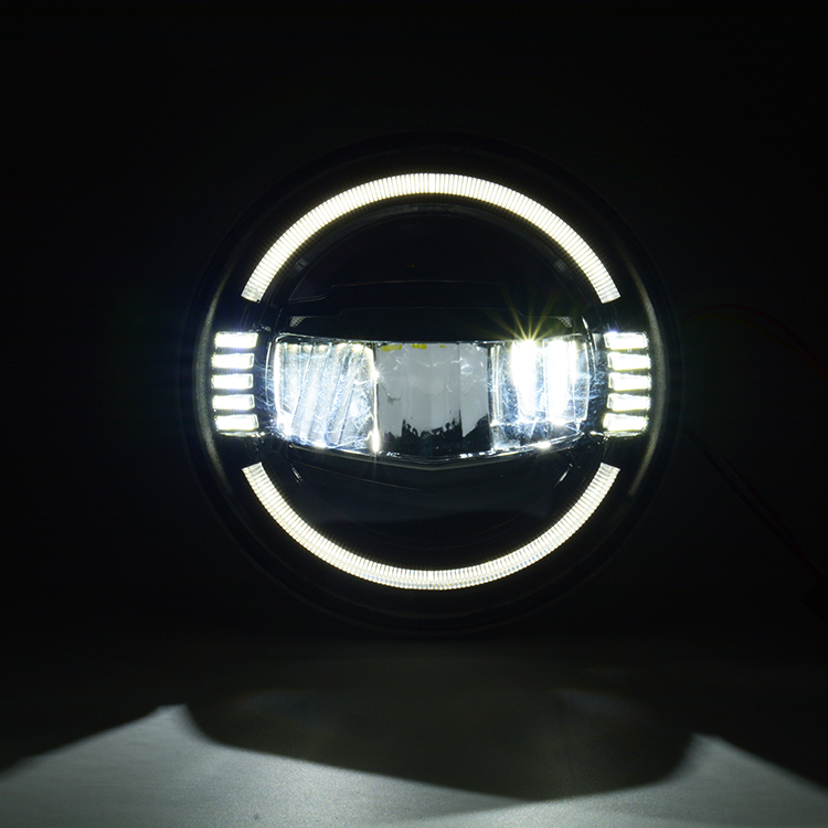 7inch Round LED Driving Light Headlights with DRL & Turn Signal 45W 7'' Headlight for Jeep