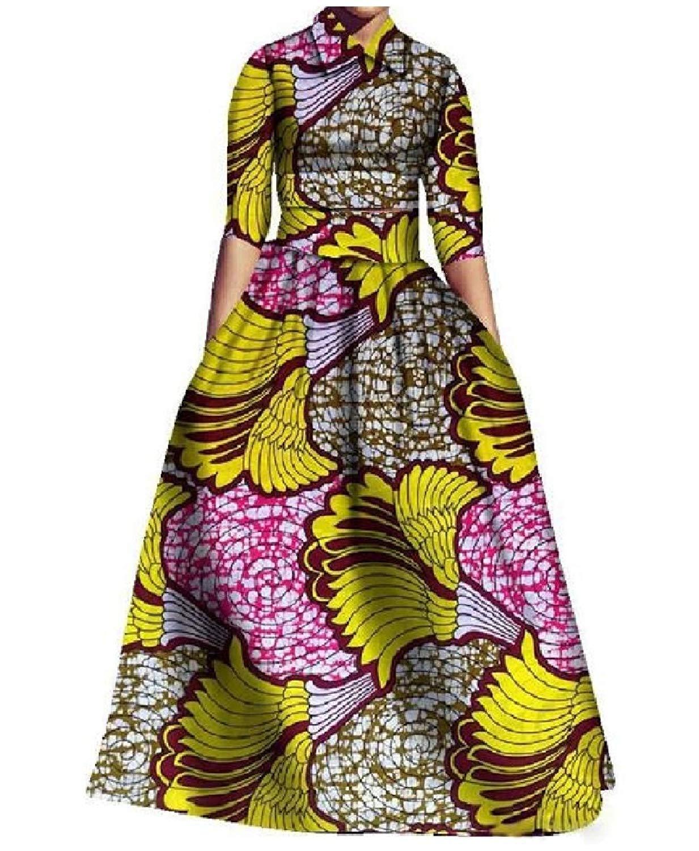 Zimaes-Women Print High Waist Big Pendulum Navajo Floral Mid-Sleeve 2 Pieces Skirt Dress