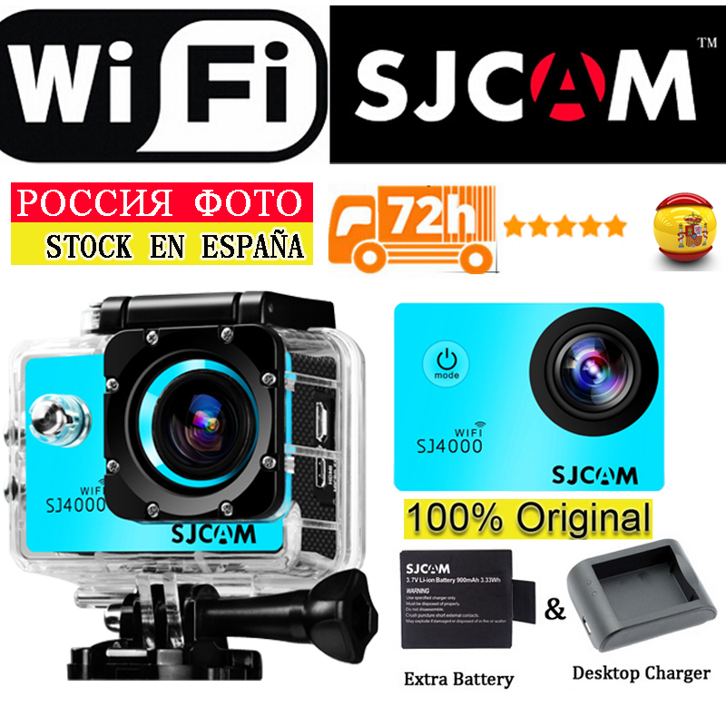100% Original SJCAM SJ4000 WIFI Action Camera Waterproof Go Pro Camera 1080P