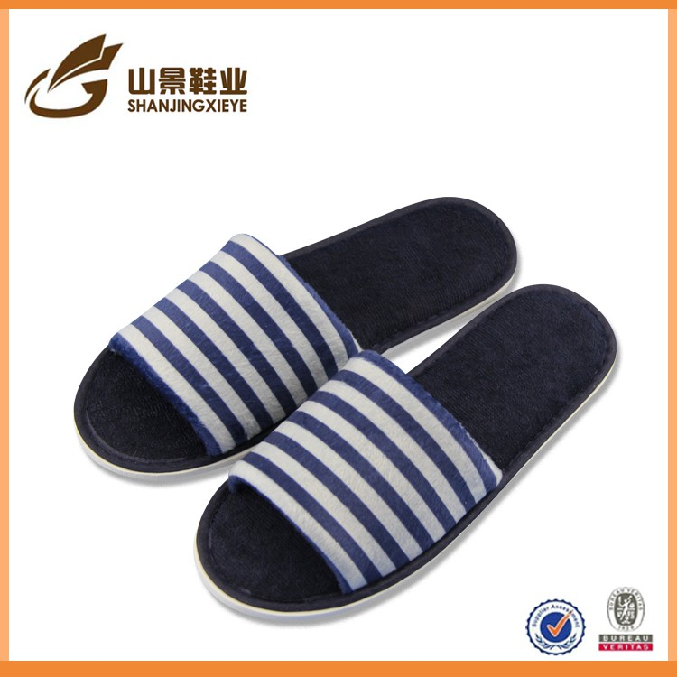 light gift	cotton fabric print man suit embroideri slipper