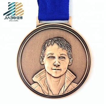 custom engraved 3d cut out metal toy medal with ribbon