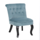 velvet fabric leisure chair living room chairs wooden chair navy blue chairs fabric living chair