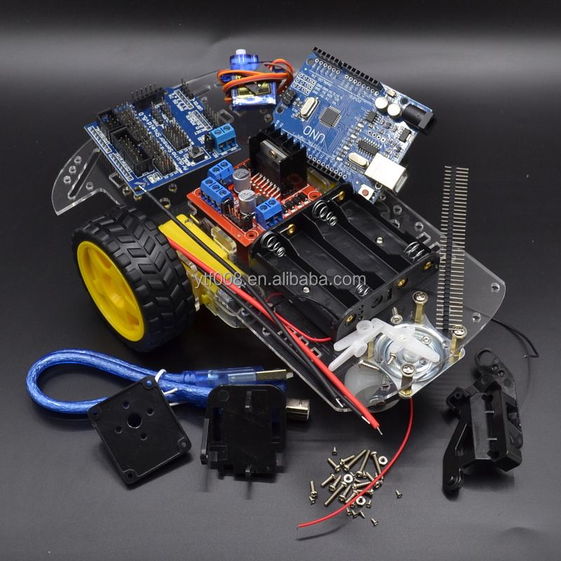 Nuovo Avoidance inseguimento Motore di Smart Robot Car Chassis Kit Connessione Encoder Battery Box 2WD modulo Ad Ultrasuoni Per kit