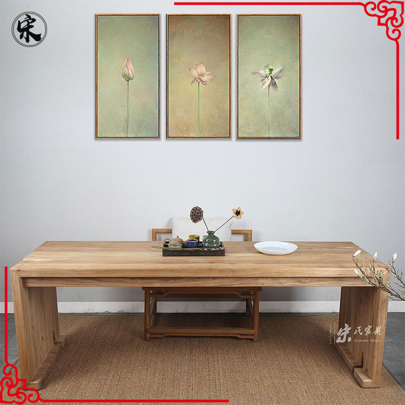 Chinese antique style recycle solid natural wooden office furniture computer desk