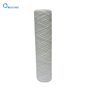 50 Micron PP Sediment String Wound Water Filter Cartridge for Long 10 Inch