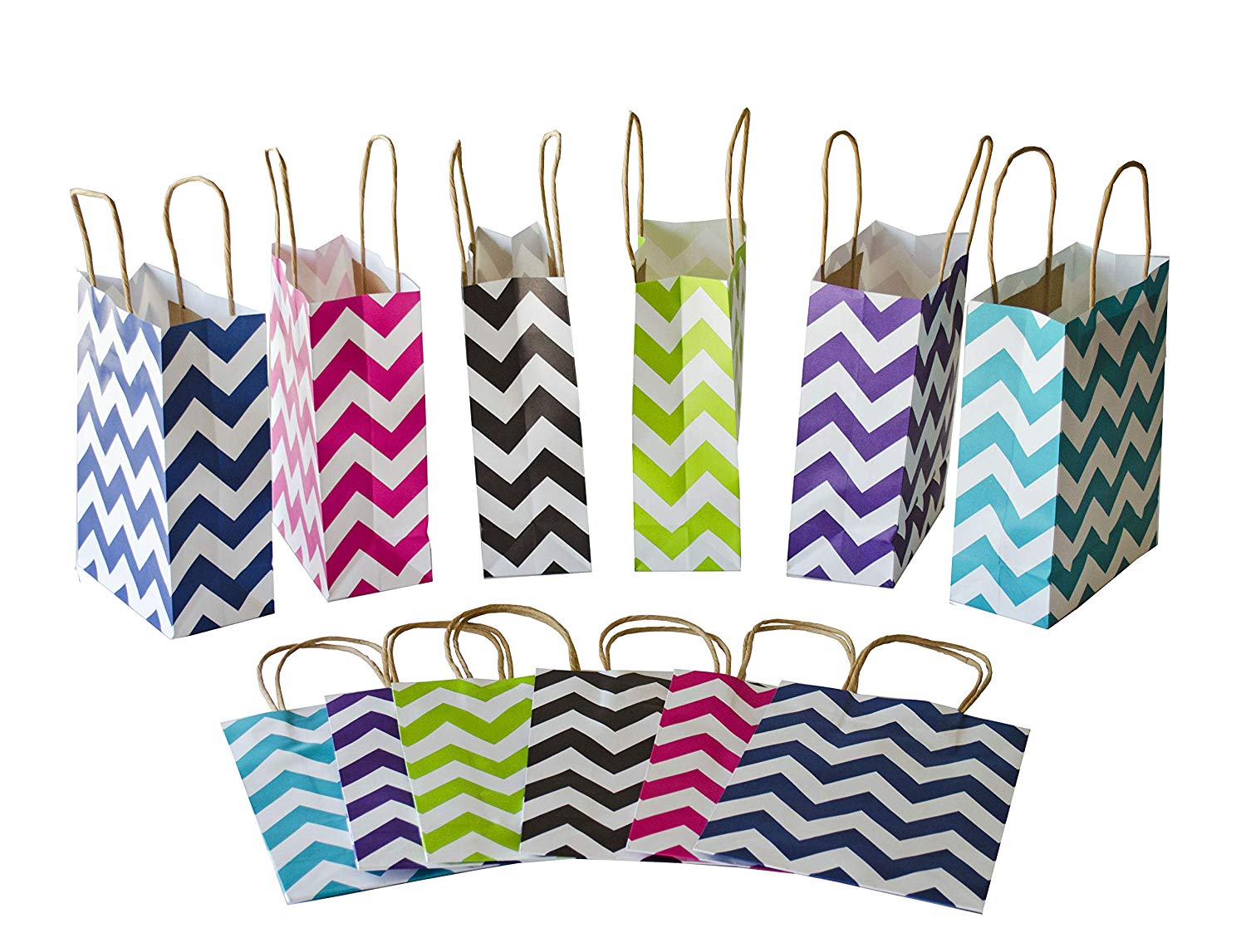 Get Quotations Chevron Gift Bags Medium With Handles Wedding Birthday