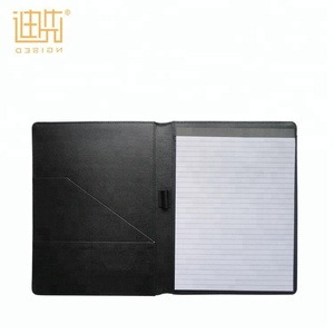 a4 Expanding File Folder Custom Black Business Card Pocket Memo Pad Folio