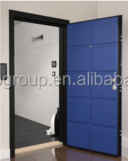 Italian Door Lock System 2150*920*90mm Italy Entrance Galvanized Steel  Security Door