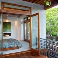Unique French doors wood glass bedroom door /Decorative glass french doors