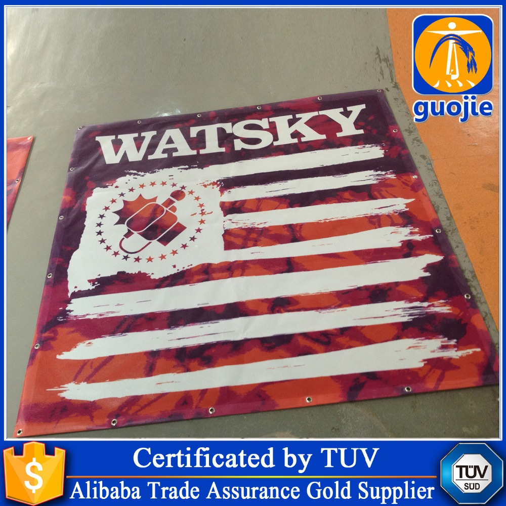 Factory good price Polyester Hanging Digital printing fabric Advertising custom flag gifts