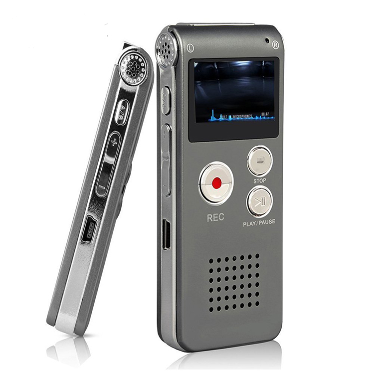Amazon Hot selling 8 GB 16 GB Geheugen Digitale Audio Voice Recorder Met Mini Usb-poort