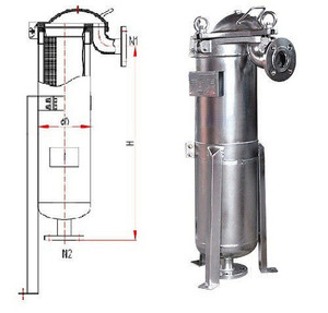 ISO9001 Top Entry Single Bag Filter Equipment