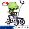 2016 New Luxury metal frame Child Tricycle with canopy /Lovely Baby Trike with 4 in 1/Cheap Kid Trike with round control