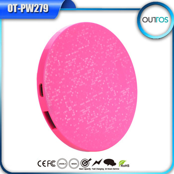Hot new mirror battery charger 1700mah pink universal portable mini power bank