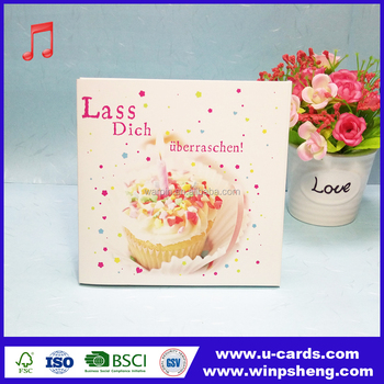 Handmade Music Greeting Card With Happy Birthday Wishes Buy Happy