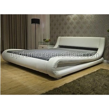 European Style S Shape Pu Leather Furniture Hotel Bed
