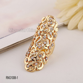 Hot French Design Personalized Latest Gold Ring Designs Finger