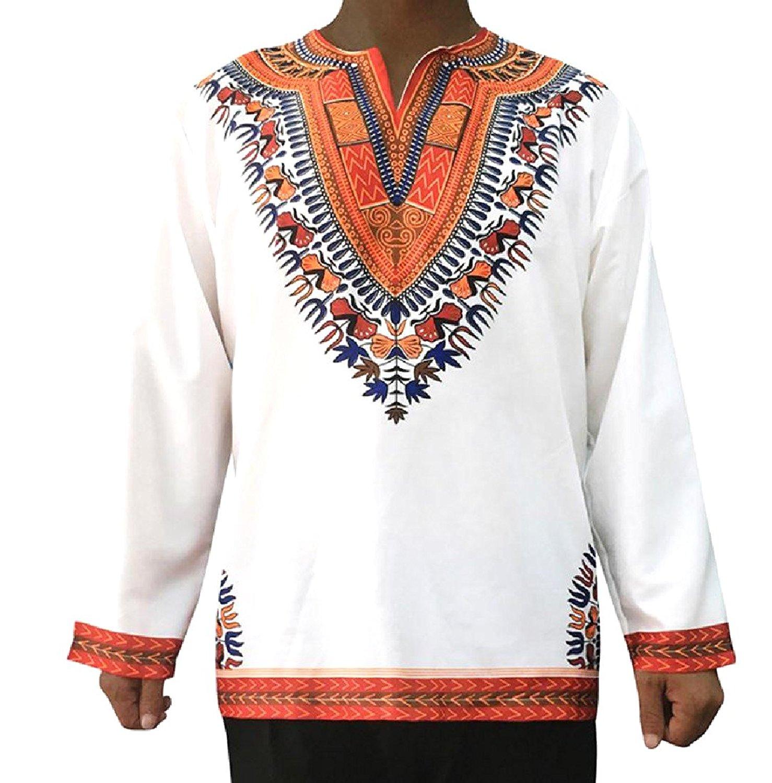 Zimaes-Men Floral Spring African Plus Size Dashiki Tee Polo Shirt
