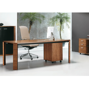 Wooden L Shaped Office Counter Desk Executive Office Table Design