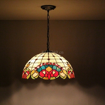 factory price simple design tiffany chandelier lamp by handmade with stained glass