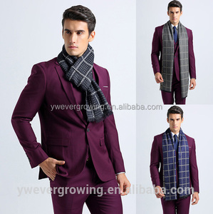 Luxury Brand Designer Winter Fashion Trick Long Soft Plaid Business Scarf Men Shawl