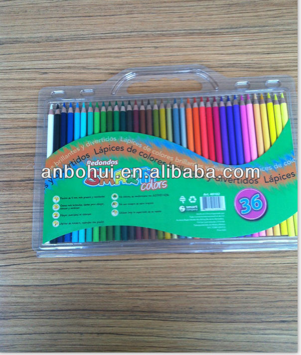 Top quality 36 colour pencils in pvc bag; Non-toxic lead,environmental painting
