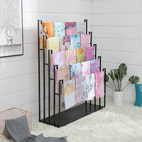 Display Boutique Fabric Store Shelving Stainless Retail Scarf Display Rack For Retail Store