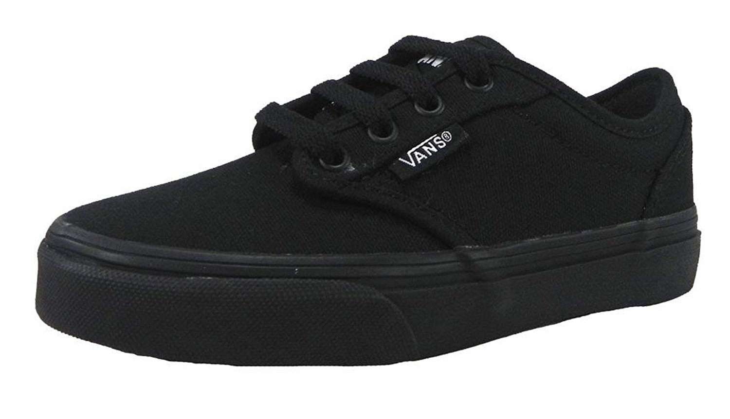 743a223b26ccd8 Buy Vans Atwood Black black Kids Sneakers 0ki5186 Skate Shoes Canvas ...