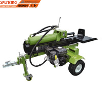 60 ton big log wedge splitting 15HP Gasoline Engine Big log super fast log split machine quick big logsplitter