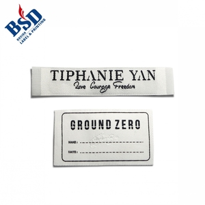 Good design cloth labels and personalised woven labels and name tags for clothes