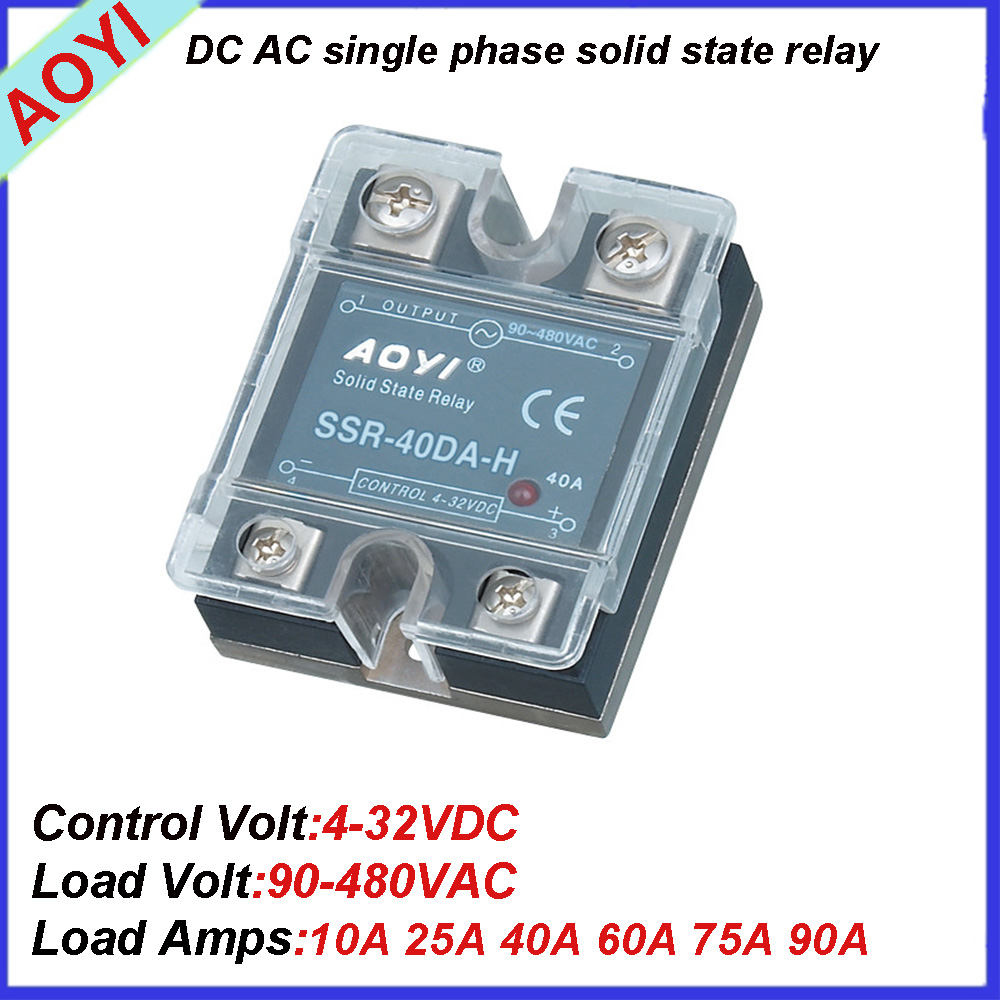 New Single Phase Dc Ac 90 480vac Solid State Relay Ssr 25da H 3g Wiring Diagram View Aoyi Oem Product Details From