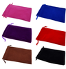 BSCI Factory Audit 4P soft velvet jewelry drawstring bag for wholesale
