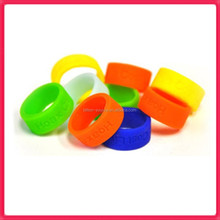 Colorful silicone thumb ring Big finger rings for women