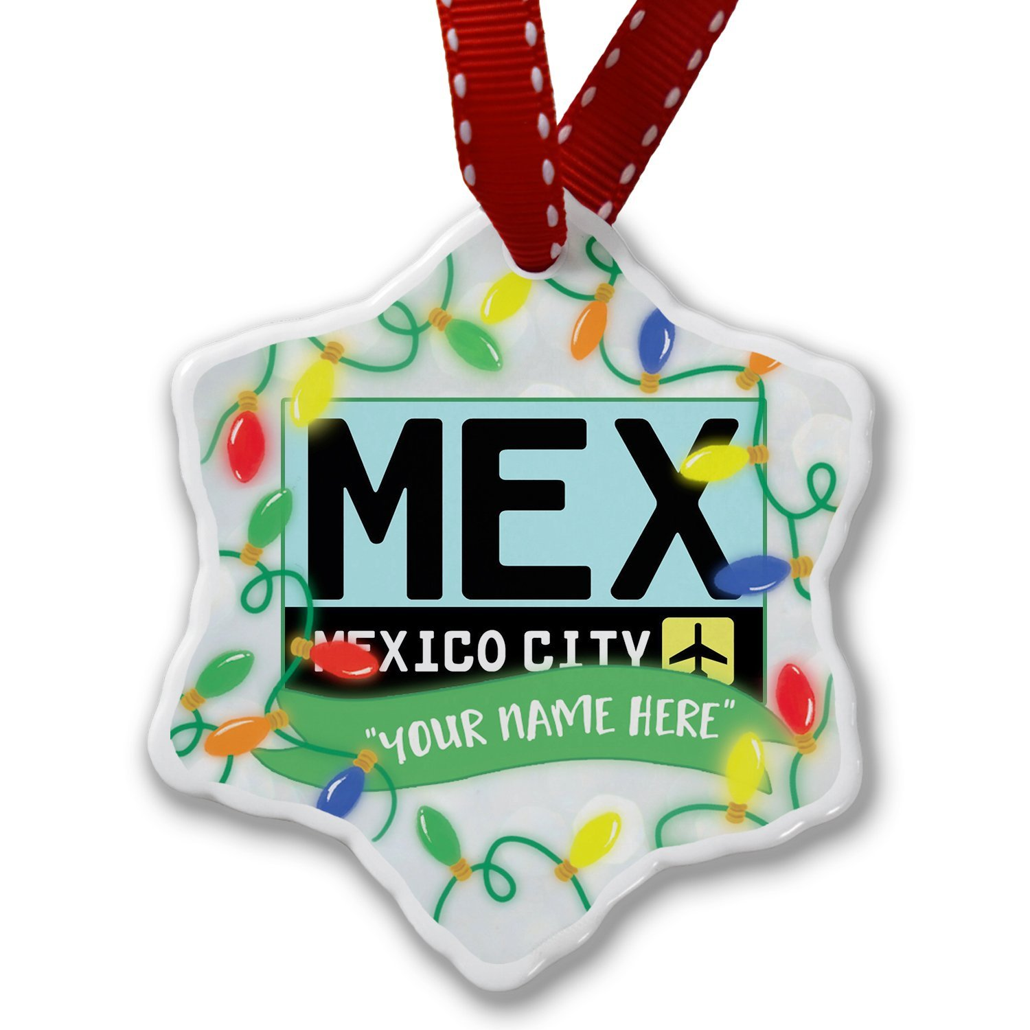 Buy 2X - MEX Mexico Country Code Oval Cell Phone Sticker
