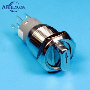 1930XE2 19mm Stainless Steel Waterproof Metal Led Illuminated 2/3Position Selecter Switch