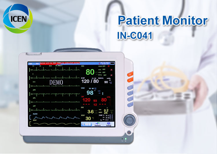 IN-C041 Multiparameter patient monitor trolley contec patient monitor with ctg paper