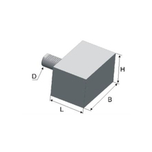 Chuck Holder Rectangular VDI Tool holders, Form A1, special construction