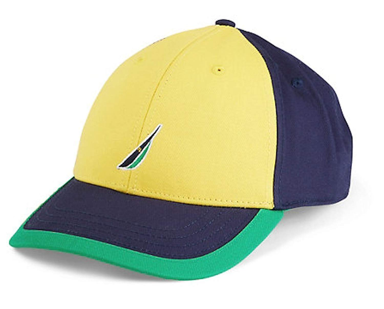 a123f09d631bc Get Quotations · Nautica Mens Limited Edition Brazil Flag Logo Hat Cap