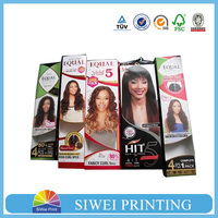 wholesale cheap hair extension packaging/tuck top clear pvc boxes